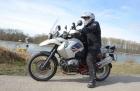 Motorradtour 2014, BMW R 1200 GS Rallye, Rhein, einspurig-unterwegs