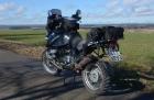 Motorradtour 2014, BMW R 1150 GS, Richtung Schwarzwald, einspurig-unterwegs