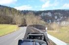 Motorradtour 2014, Donautal, einspurig-unterwegs
