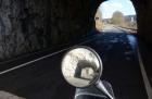 Motorradtour 2014, Donautal, Tunnel, einspurig-unterwegs