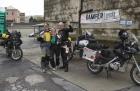 Motorradurlaub 2014, Anfahrt Genua, Fähre Richtung Tunesien, einspurig-unterwegs