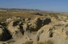 Bardenas Reales, Navarra, Spanien, Auswaschung