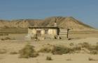 Bardenas Reales, Navarra, Spanien, einsame Hütte