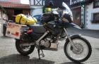 Christinas Motorräder, Honda Clubman, BMW F650 GS, Einspurig-Unterwegs
