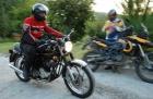 Adventure-Stammtisch, Motorradausfahrt zum Bootshaus-Lauter, einspurig-unterwegs