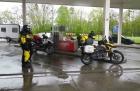 Erster Motorradurlaub 2013 Einspurig Unterwegs2013, Tanken