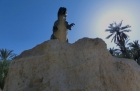Kutschfahrt durch die Oasen von Tozeur, Tunesien, einspurig-unterwegs