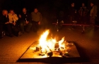 Lagerfeuer beim Helfertreffen von Touratech in Niedereschach