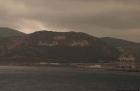 Einfahrt der Faehre in den Hafen von Tanger