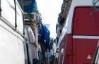 Kleintransporter Hafen von Genua
