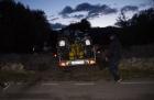 Motorradurlaub 2014, Anfahrt Apulien -einspurig-unterwegs