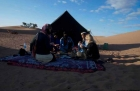 Dromdatour in die Sahara bei Mhamid - Frühstück