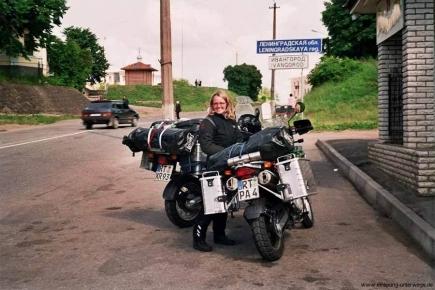 Motorradurlaub Russland - Einreise von Estland nach Russland bei Narva