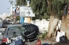 Motorradurlaub 2014, Tunesien, Bizerte, Cap-Serrat, einspurig-unterwegs