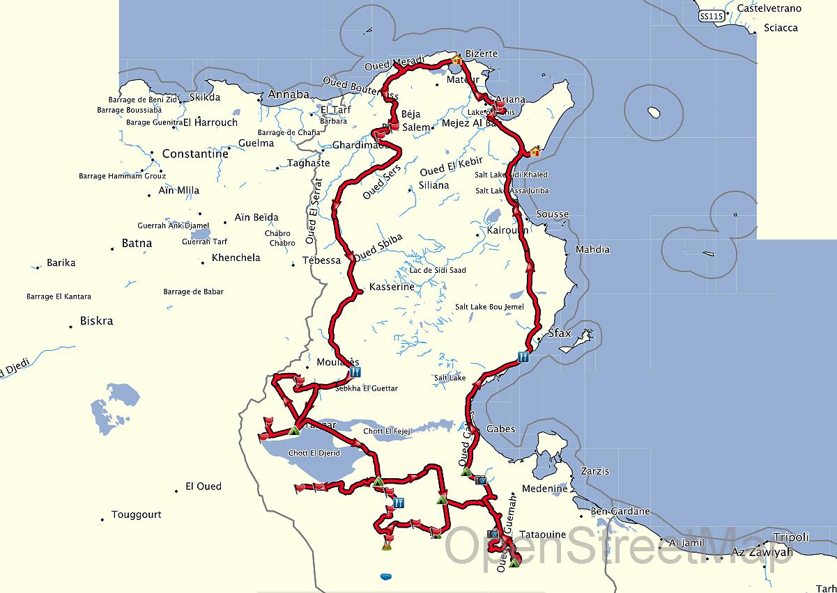 dougga tunesien karte
